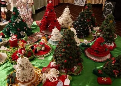 Holiday Pop Up Crocheted Trees